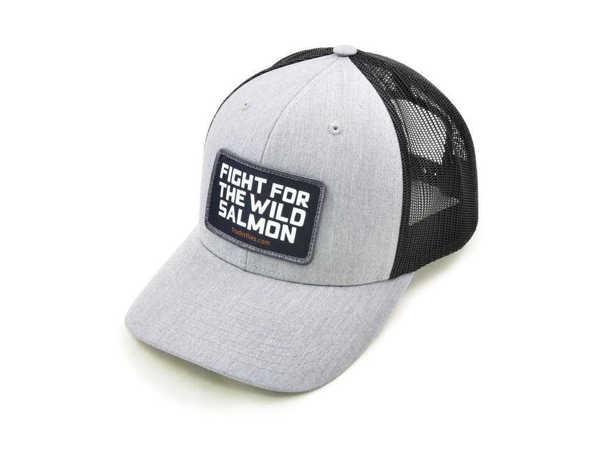 Bild på Frödin Light Grey/Black 'Wild Salmon' Trucker Hat
