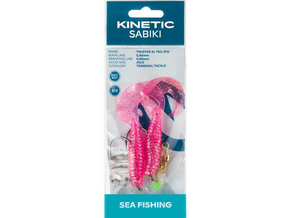 Bild på Kinetic Sabiki Twister XL Tail Pink/Silver #8/0