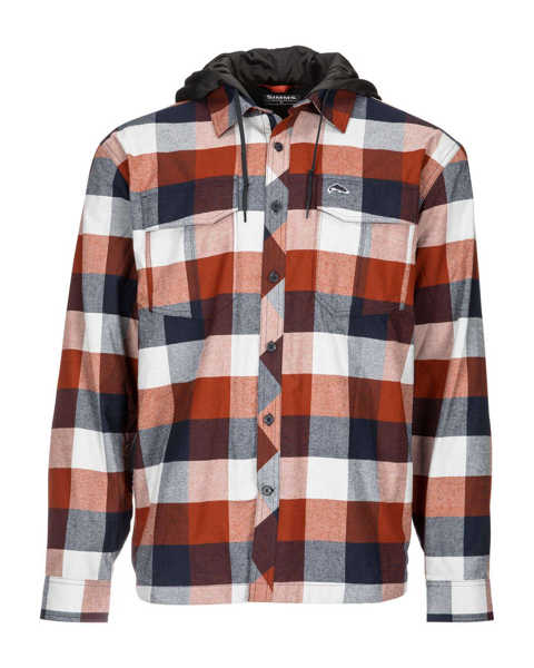 Bild på Simms Coldweather Hoody (Rusty Red Buffalo Plaid)