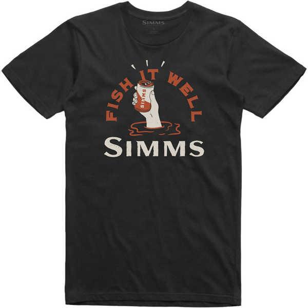 Bild på Simms Cheers Fish It Well T-Shirt Black