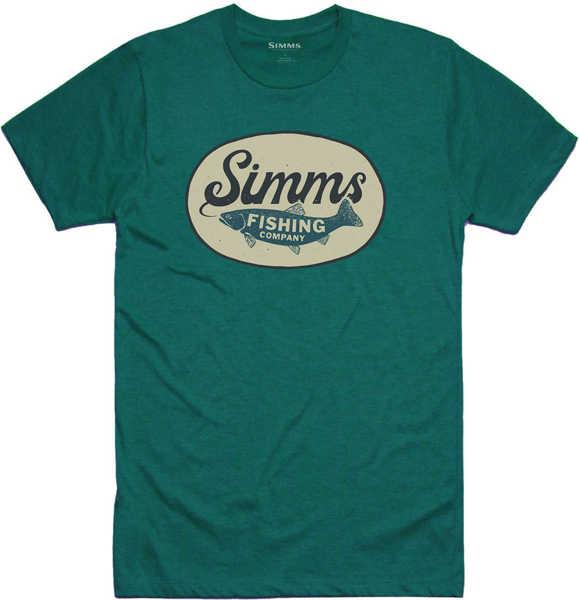Bild på Simms Trout Wander T-Shirt Dark Teal Heather