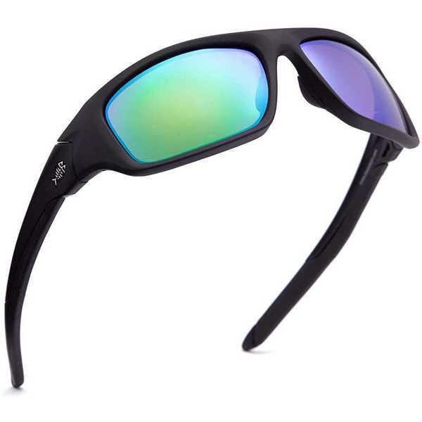 Bild på Bassdash V01 Polarized Sunglasses Matte Black/Green Mirror